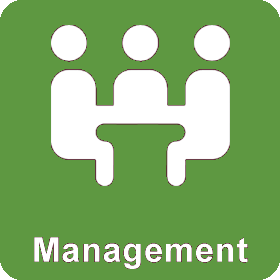 Icon: (Connect) Management (3 people seated at a table)