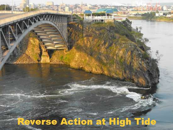 Reversing Falls at High Tide.