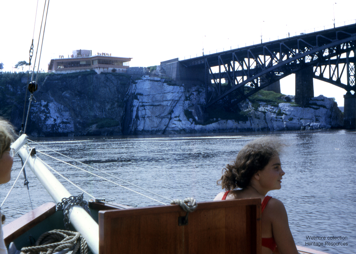 Reversing Falls Rapids Tourist Center 1972