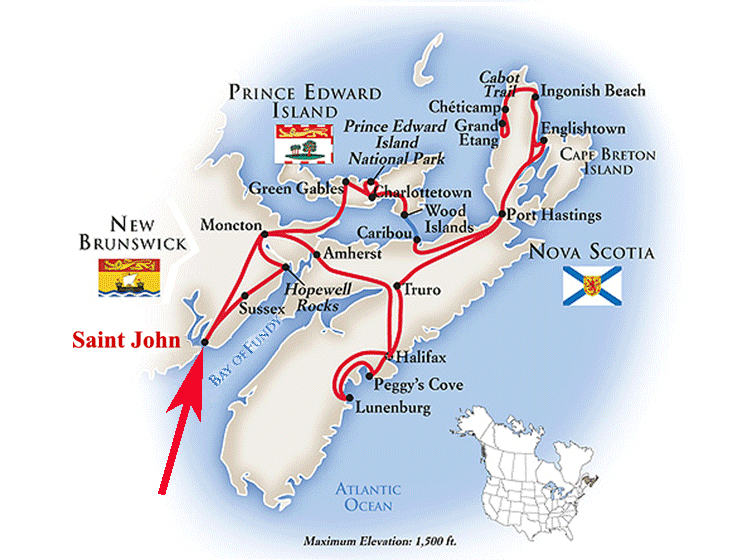 Saint John New Brunswick area map